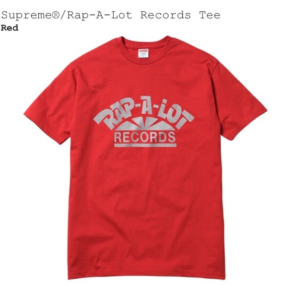 c1ff574625c SUPREME Rap-A-Lot Records tee size medium in red