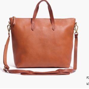 NWT Madewell transport satchel - saddle