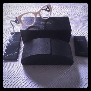 Prada Havana Swirl Cat Eye Prescription Glasses