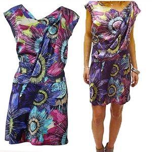 Ali Ro Dresses & Skirts - Ali Ro Asymmetric collar drop waist silk dress 12