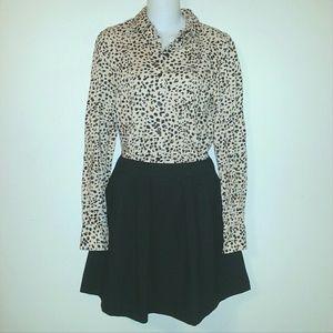 Zara Basic Black Pleated Mini Skirt