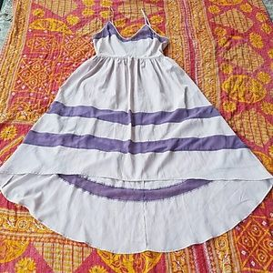 Rory Beca Dresses & Skirts - Rory Beca F21 Purple Sheer High Low Dress L
