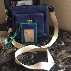 Coach Park Leather swing-pack and wristlet