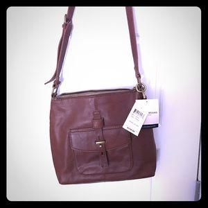 NWT Lucky Brand crossbody leather bag