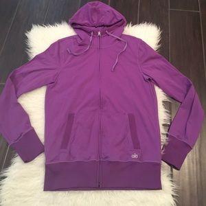 ALO Yoga Tops - Purple alō yoga hoodie. Alo yoga jacket. Alo yoga