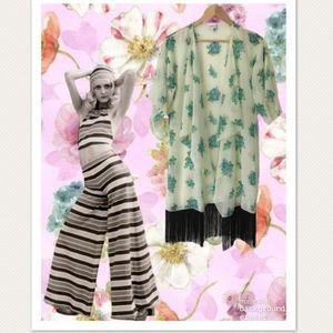 LuLaRoe Floral, Fringed Kimono