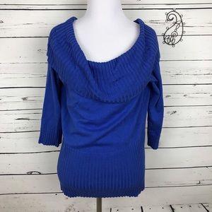 Alyx  Tops - Alyx Royal Blue Cowl Neck Knit Women's Large