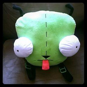 Nickelodeon Handbags - Invader Zim Gir Plushie Pillow Backpack