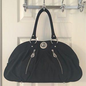 Baggallini Handbags - 🛍 Baggallini Black Silver Large Nylon Tote Bag