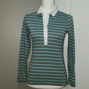 Women's Lacoste long sleeve polo shirt, small