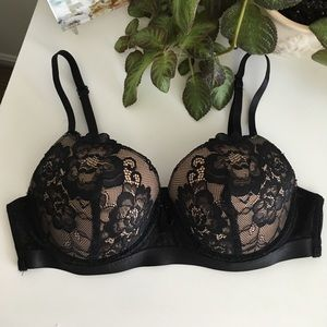 Heidi Klein Other - Black Lacy Push-up Bra