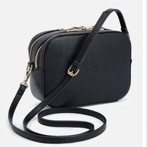 Zara Handbags - CART MINI BLACK CROSS BODY BLACK PURSE