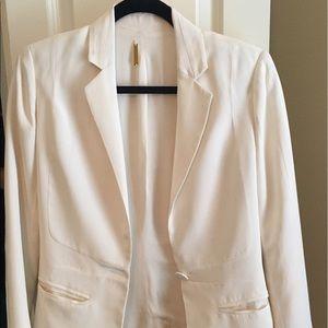 White Rebecca Minkoff silk blazer