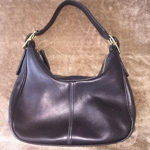 SALE Coach black leather bag