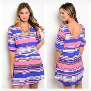Dresses & Skirts - NEW large striped belted dress