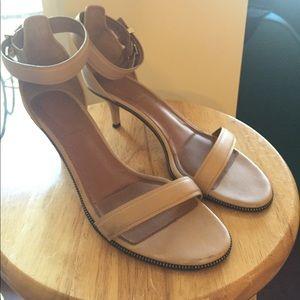 Givenchy Nadia zipper ankle strap heel sz 39