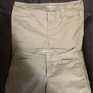 Old Navy Pixie Khaki Pants Size 12