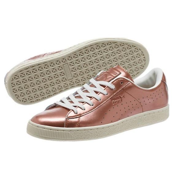 245be6bb9c16 Puma Basket Classic Metallic Sneakers - Rose Gold .  M 58f6517778b31cc97116b535