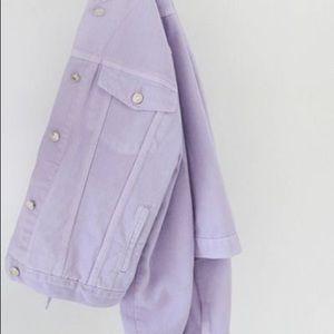 Jackets & Blazers - Lilac Purple Pastel Denim Jean Jacket