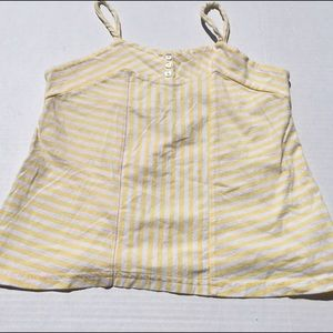 Girls Yellow and White Striped KC Parker Tank Top