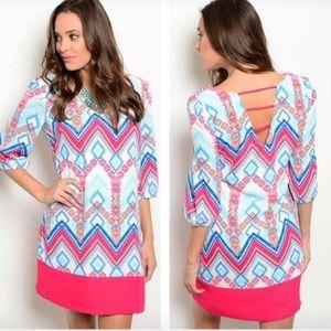 Dresses & Skirts - NWT aqua magenta multi dress