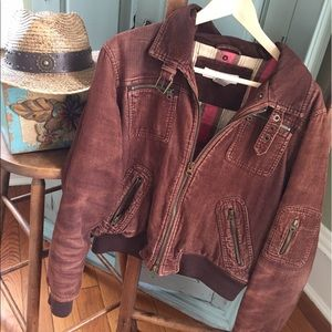 Maurice's Rust Brown Corduroy Jacket L
