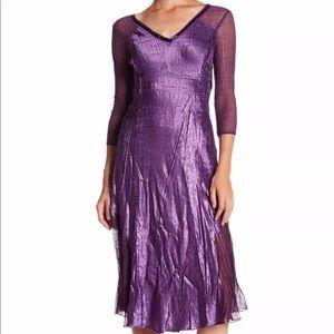 Komarov Dresses & Skirts - NWT Komarov V Neck Long Sleeve Sequin Midi Dress