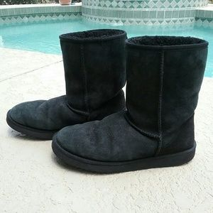 UGG Shoes - Black Classic Short UGG Boots