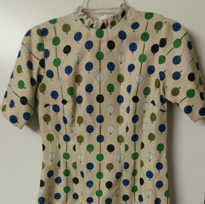 Vintage 1960's/70's off yellow party dress