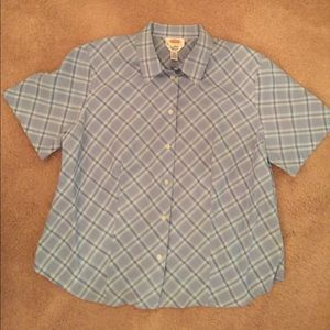 Talbots Tops - Talbots linen blend short sleeve blouse