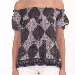 Joie paisley off the shoulder top