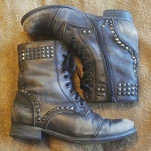 Miz Mooz Shoes - Miz Mooz 'Marquis' Studded Leather Zip Up Boots