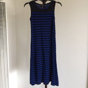 Other - Girls royal blue and black stripe Maxi dress