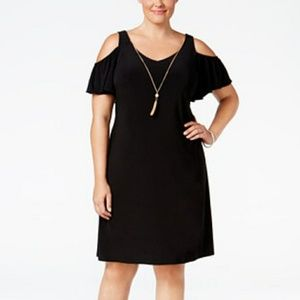 MSK Dresses & Skirts - ❤🎉 HP! 🎈cold shoulder plus size dress.