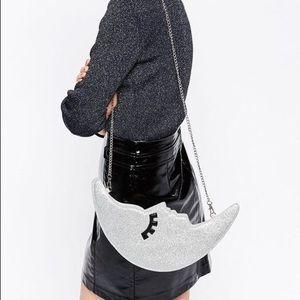 Handbags - Glitter Moon Winking Eye Bag Clutch Purse