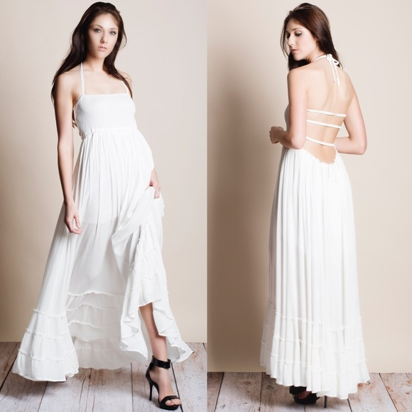 cdc0a918ae6 xx Backless Maxi Dress. Boutique. Bare Anthology