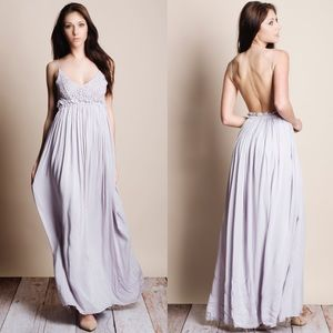 xx Backless Crochet Front Maxi Dress