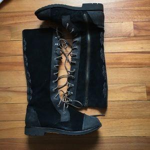 OluKai Shoes - OluKai Athleta Kaila Suede Tall Boots SIZE 6