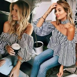 Tops - Sexy Off Shoulder Loose Blouse