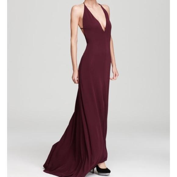 ABS Allen Schwartz Dresses | Backless Deep Purple Gown | Poshmark