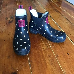 Joules Shoes - Joule's Wellibob Polka Dot Rain Boots