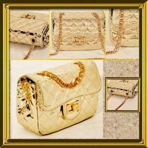 Pink Haley Handbags - 🆕 PINK HALEY Quilted Gold metallic crossbody