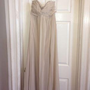 David's Bridal Dresses & Skirts - Champagne Bridesmaid / Prom Dress