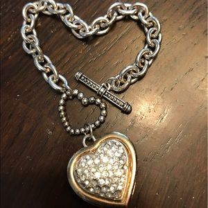 Jewelry - Heart charm bracelet silver plated