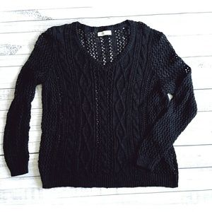 Abercrombie & Fitch navy chunky knit sweater