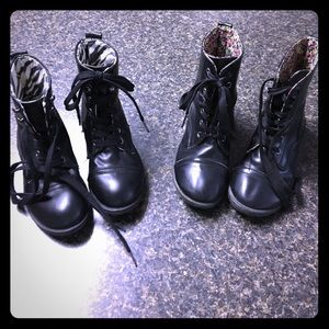 Other - Size 13 and a Size 1 Lace up Black Boots