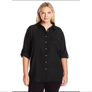 Calvin Klein Collection Tops - CK Woman's Collection Black Top