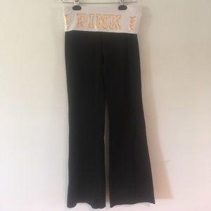 VS Pink Bling Yoga Pants - Size s