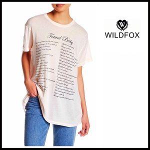 Wildfox Tops - ❗️1-HOUR SALE❗️WILDFOX Festival Tunic Tee