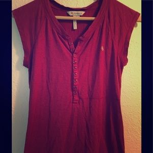 BCBG Tops - 🎈 BCBG button up tee so cute on! final price